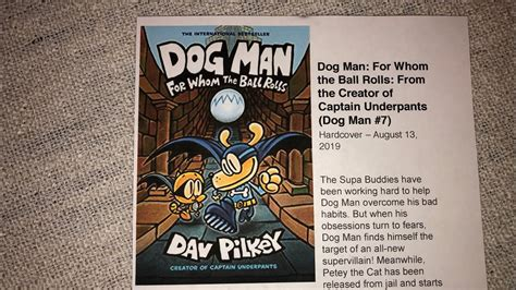 dog man    ball rolls coming august  youtube