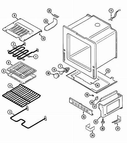 Parts Maytag Oven Diagram Range Base Electric