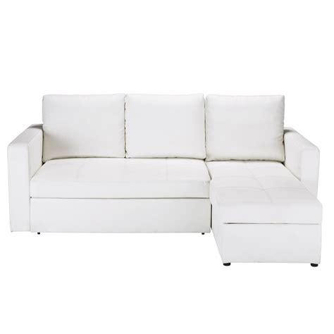 canapé d angle 3 places canapé d 39 angle convertible 3 places blanc toronto