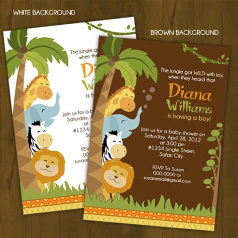 Wild Safari Baby Shower by Safari Baby Shower Invitation Jungle Baby By