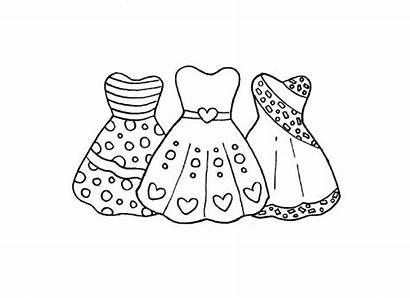 Coloring Pages Dresses Sheets Pretty Barbie Princess