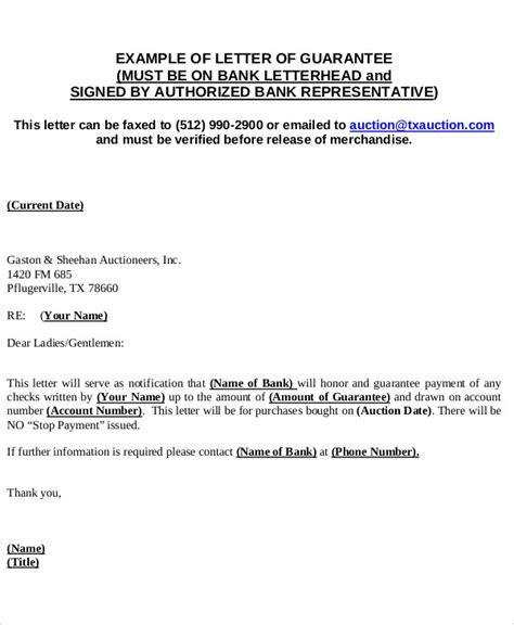 bank guarantee letter 51 guarantee letter sles pdf sle templates