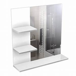 corail meuble miroir de salle de bain l 60 cm blanc With miroir salle de bain 60 cm