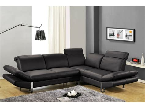 vente unique canapé angle canapé d 39 angle saveur noir angle gauche canapé vente