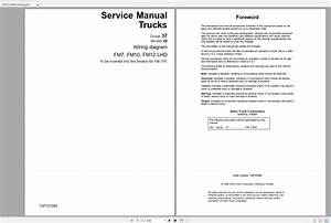 Volvo Fm7 Trucks Service Manual Buses  U0026 Wiring Diagrams