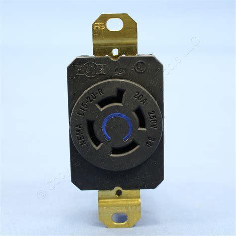 ps locking receptacle nema l15 20r twist lock outlet