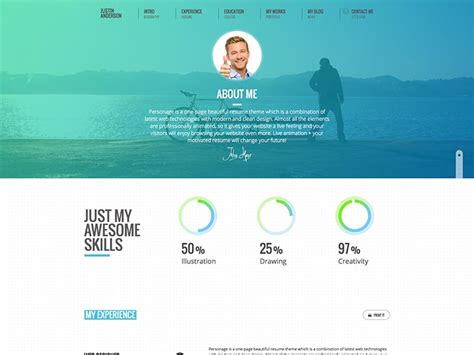 Theme Cv by 11 Best Vcard Resume Themes For 2018 Siteturner