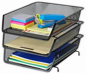 3 pack stackable desk file document letter tray With simplehouseware 3 tier stackable desktop document letter tray organizer black