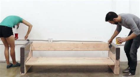 canapé diy diy fabriquer un canapé avec des planches de bois et des