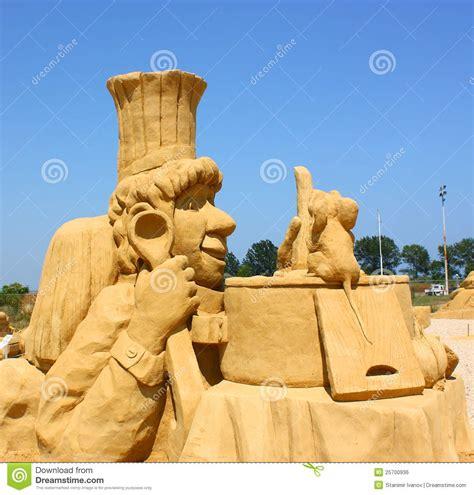 Sand Sculpture Of Ratatouille Movie Editorial Photo