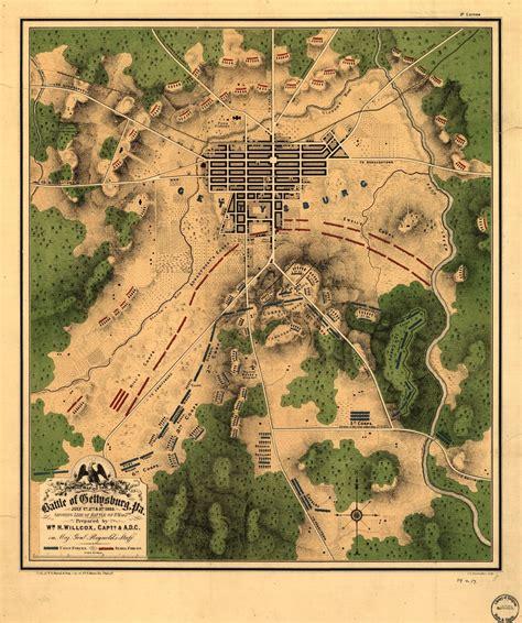 map   battle  gettysburg pa july st