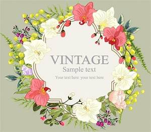 Flowers Wreath Background Multicolored Various Floral