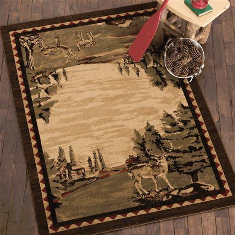 cabin deer rug