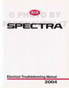 2004 Kia Spectra Repair Shop Manual Original 2 Vol  Set