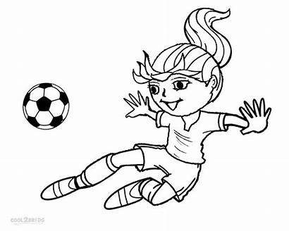 Football Coloring Pages Player Soccer Players Printable