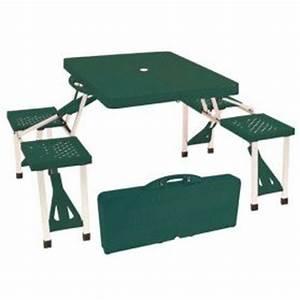 Table Pliante Valise : table de picnic pliante valise table de lit ~ Melissatoandfro.com Idées de Décoration