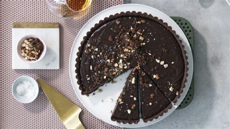 bake crunchy chocolate almond tart recipe good food