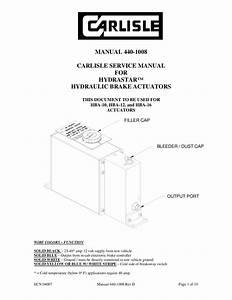 Carlisle Hydrastar Trailer Brake System Manual By
