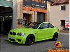 BMW 1M Gets Stunning LimeGreen Wrap autoevolution