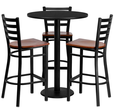 6 contemporary black pub table sets furniture