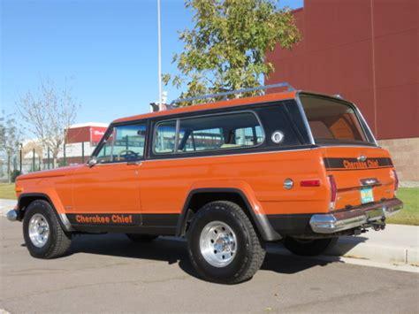 jeep cherokee orange omaha orange unrestored 1976 jeep cherokee chief bring