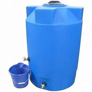 500 Gallon Blue Emergency Water Tank