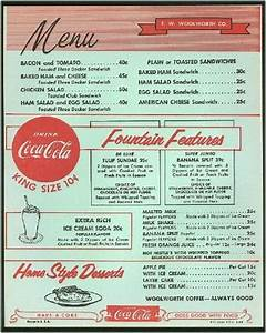 vintage woolworth39s menu use as template to design sock With 50s diner menu template