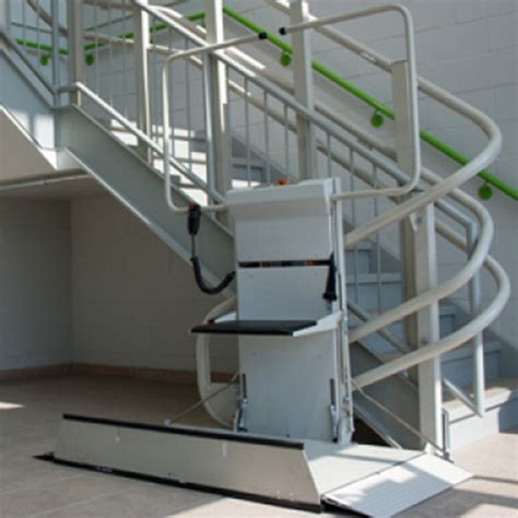 savaria commercial curved rail inclined wheelchair lift