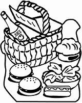 Picnic Coloring Pages Crayola sketch template