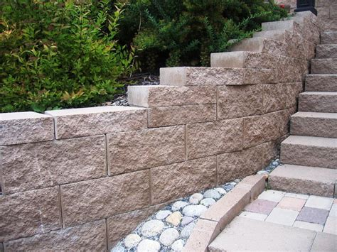 interior decorative cinder blocks retaining wall deck