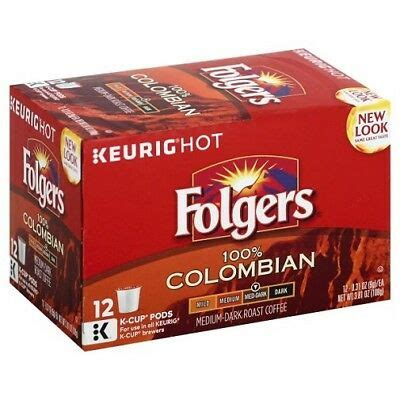 Whether it is 8 am or pm this decaf medium roast blend folgers coffee is crafted by experienced roastmasters that ensures a classic coffee drinking. Folgers Coffee 100% Colombian Keurig K-Cups | eBay