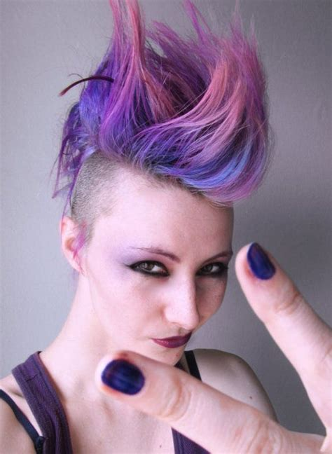 Pastel Purple Mohawk Hair Hair And Beauty In 2019 Hair