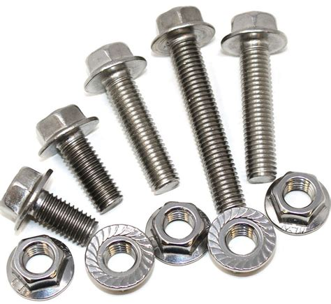 m10 10mm a2 stainless hexagonal flange bolts with free a2 serrated flange nut ebay