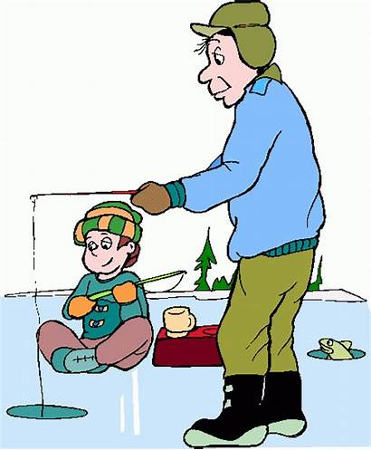 Fishing Ice Clipart Clip Cartoons Fisherman Fish