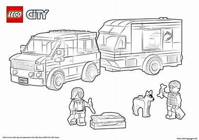 Coloring Pages Caravan Van Lego Printable Police