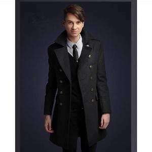 Manteau Homme Cintré. manteau long officier pour homme coupe cintr ... 515e1dfb7259