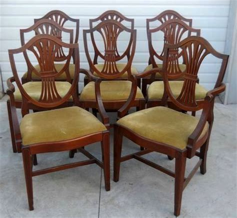 mahogany dining chairs federal hepplewhite style set of