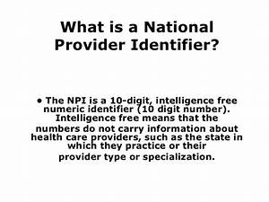 Npi  National Provider Identifier  Related To Us Health