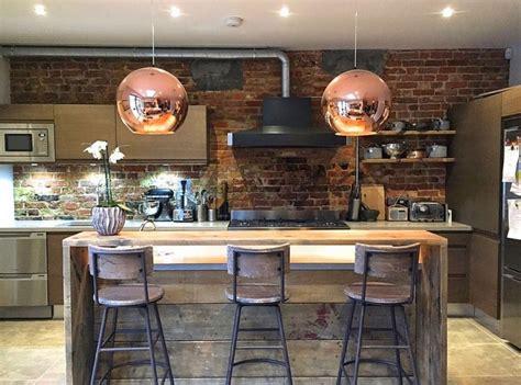 bureau ancien dessus cuir 30 exemples de décoration de cuisines au style industriel
