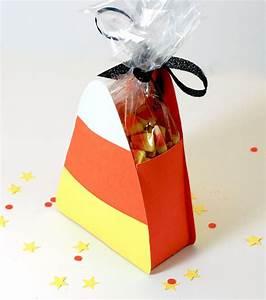 Halloween Candy Corn Treat Box Template