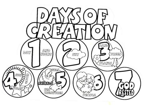 creation day  coloring pages coloring home