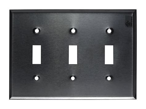 light switch wall plates 1 2 3 4 gang brushed stainless steel toggle switch outlet