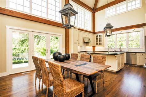 dining area fieldview post  beam addition click     barnhouseplans