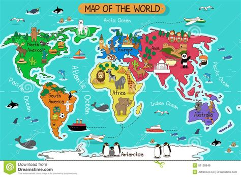 Map Of The World Stock Vector