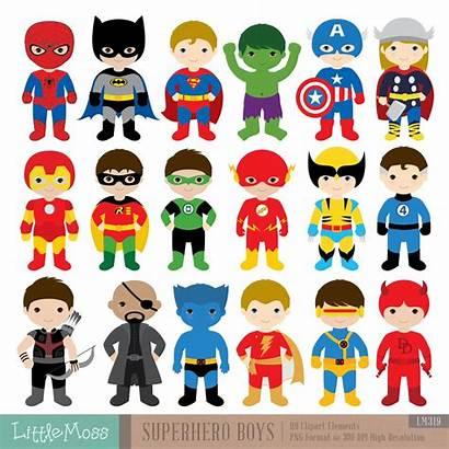 Superhero Clipart Boys Costumes Superheroes Batman Superman