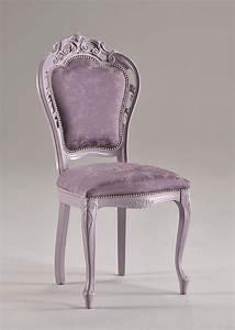 Sedia In Stile In Faggio Massello  Imbottita