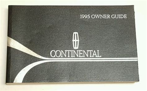car repair manuals online pdf 1995 lincoln continental interior lighting sell 1995 lincoln continental owners manual guide executive signature series v6 3 8l motorcycle