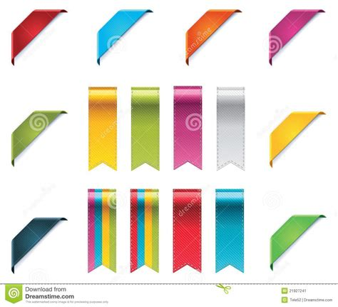 foto de Vector ribbons set stock vector Illustration of badge