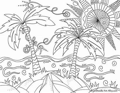 Doodle Alley Coloring Beach Pages Way