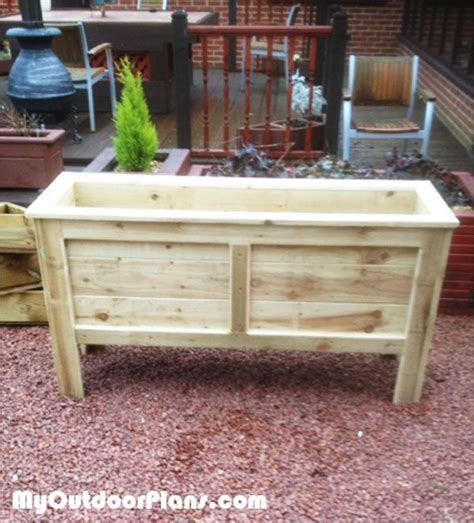 planter box plans ideas  pinterest
